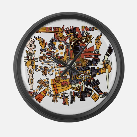 Aztec God of Life and Death. Dual Large Wall Clock