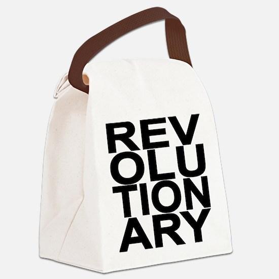 REV BLACK Canvas Lunch Bag