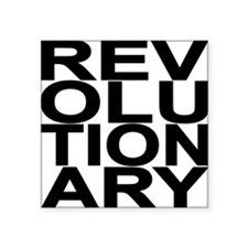 "REV BLACK Square Sticker 3"" x 3"""