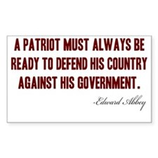 A-Patriot---Edward-Abbey Decal