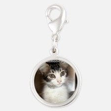 2-baby Silver Round Charm