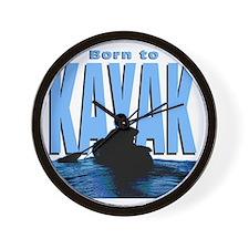 born-kayak-dk Wall Clock