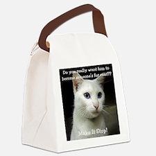 2-SnowB Canvas Lunch Bag