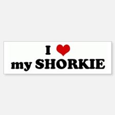 I Love my SHORKIE Bumper Car Car Sticker