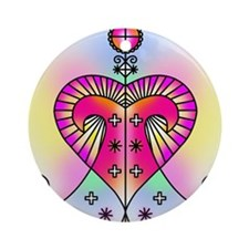 erzulie heart colored Round Ornament