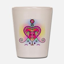 erzulie heart colored Shot Glass