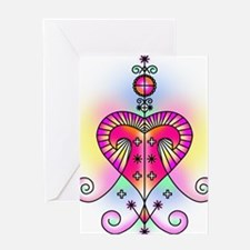 erzulie heart colored Greeting Card