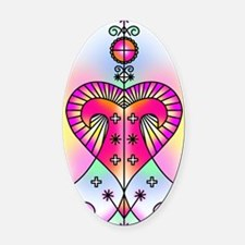 erzulie heart colored Oval Car Magnet