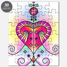 erzulie heart colored Puzzle