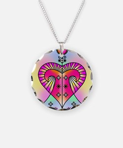 erzulie heart colored Necklace