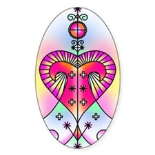 erzulie heart colored Decal