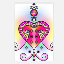 erzulie heart colored Postcards (Package of 8)