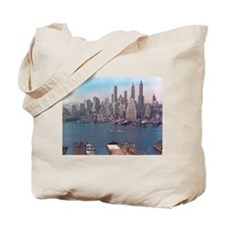 New York City Skyline 1948 Tote Bag
