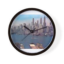 New York City Skyline 1948 Wall Clock