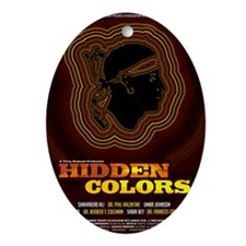 24x36_hiddencolorsposter Oval Ornament