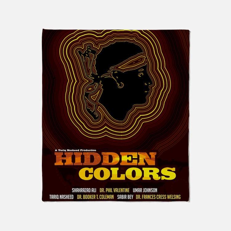 24x36_hiddencolorsposter Throw Blanket