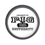 Pig University Wall Clock