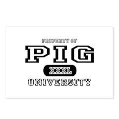 Pig University Postcards (Package of 8)
