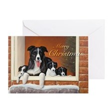 Unique Border collie holiday Greeting Card