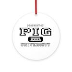 Pig University Ornament (Round)