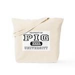 Pig University Tote Bag