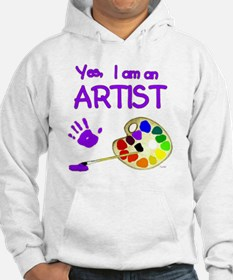02-yes-im-an-artist-brush-n-pale Hoodie