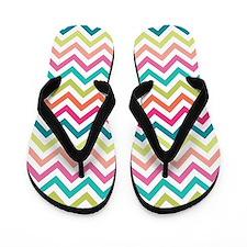 Colorful Zig Zags Flip Flops