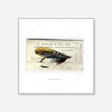 "farlow_black_doctor_fly Square Sticker 3"" x 3"""