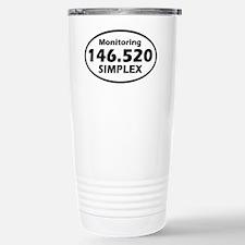 Oval Simplex Sticker Stainless Steel Travel Mug