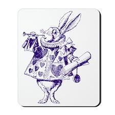 White Rabbit Herald Inked Purple Mousepad