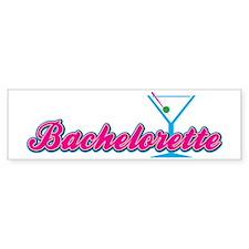 BacheloretteBlack Bumper Sticker