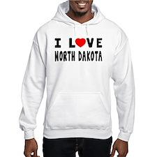 I Love North Dakota Hoodie