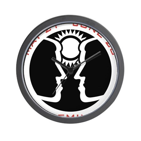 Gemini Emblem Red Wall Clock