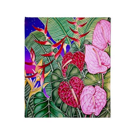 Image78 Anthurium Dusk-side1 Throw Blanket