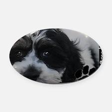 cockapoo Oval Car Magnet