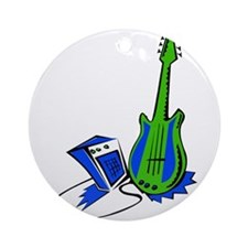 guitar amp stylized fill green blue Ornament (Roun