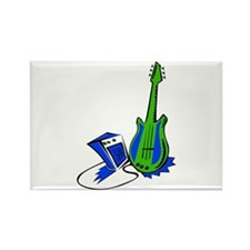 guitar amp stylized fill green blue Magnets