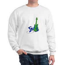 guitar amp stylized fill green blue Sweatshirt
