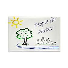 People4Parkslogo Rectangle Magnet