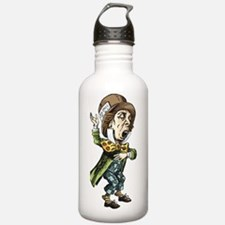 alice card_mad_hatter Water Bottle