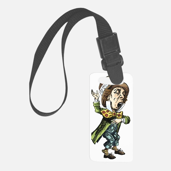 alice card_mad_hatter Luggage Tag