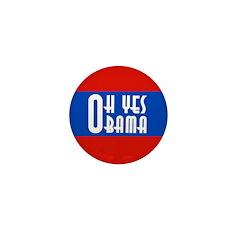 Oh Yes Obama Campaign Mini Button