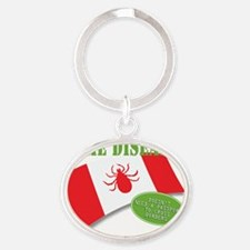 Lyme Passport Oval Keychain