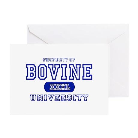 Bovine University Greeting Cards (Pk of 10)