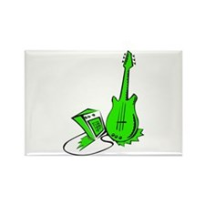guitar amp stylized green Magnets