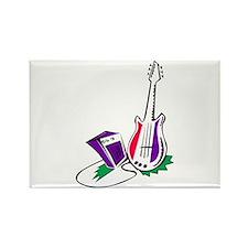 guitar amp stylized purple green Magnets