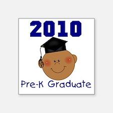 "PREKGRADBOYAFRICAN2010 Square Sticker 3"" x 3"""