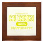 Chicken University Framed Tile