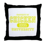Chicken University Throw Pillow