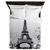 Paris eiffel tower vintage Queen Duvet Covers